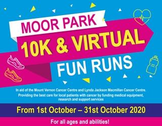 Moor Park Virtual 10K & Fun Runs – 1st to 31st October 2020