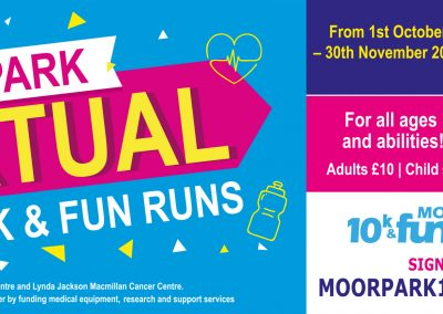 Moor Park Virtual 10K & Fun Runs – 1st October to 30 November 2020